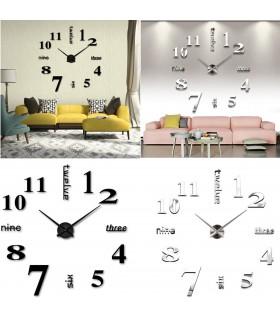 Лепящи 3D часовник за стена - модел 4215 - 1