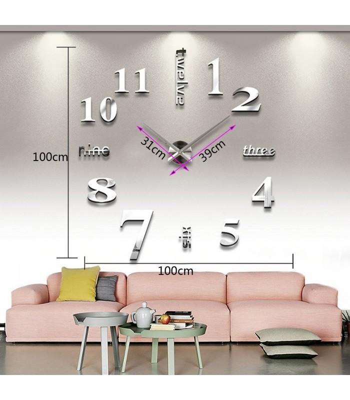Лепящи 3D часовник за стена - модел 4215 - 6