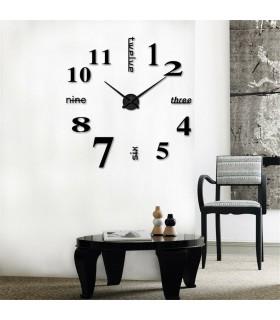 Лепящи 3D часовник за стена - модел 4215 - 4