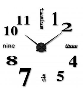 Лепящи 3D часовник за стена - модел 4215 - 3