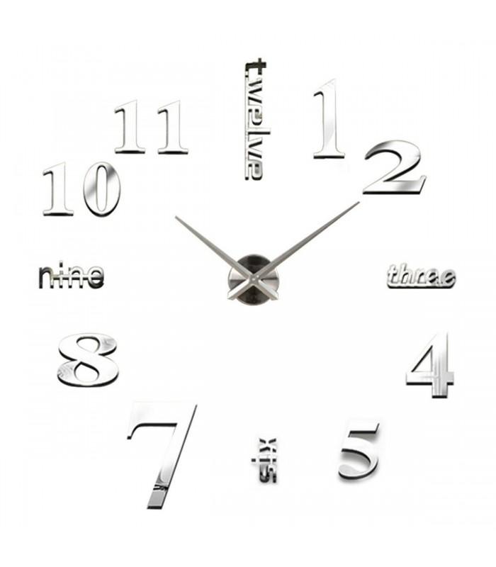 Лепящи 3D часовник за стена - модел 4215 - 2