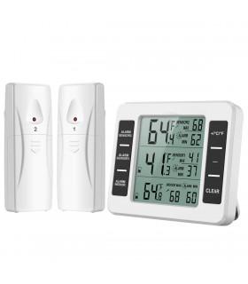 Безжичен термометър за външна и вътрешна температура с 2 сензора - 1