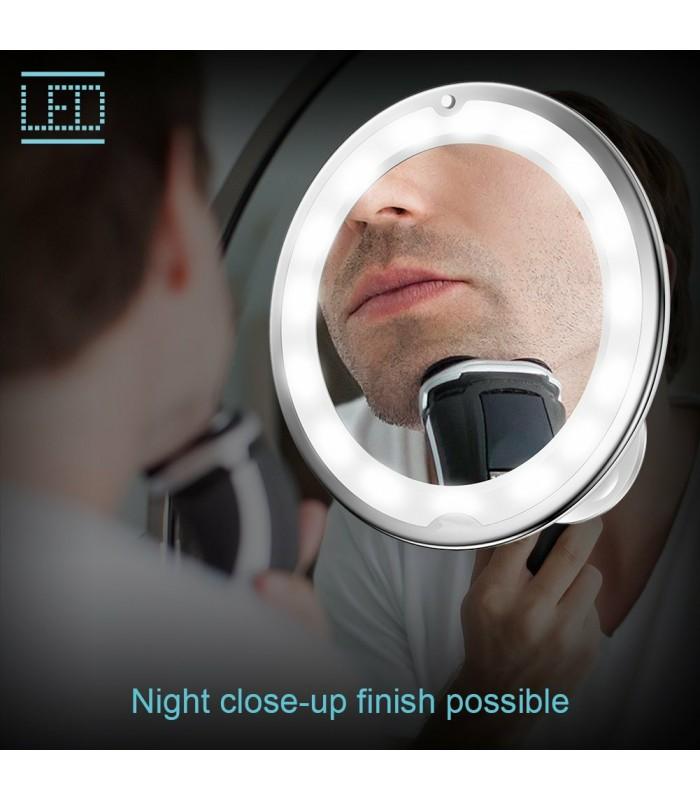 Огледало с увеличение 10Х, LED светлина и захващане с вакуум - 5