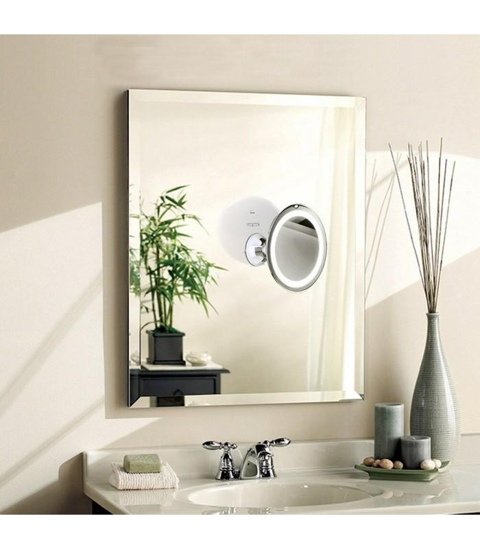 Огледало с увеличение 10Х, LED светлина и захващане с вакуум - 4