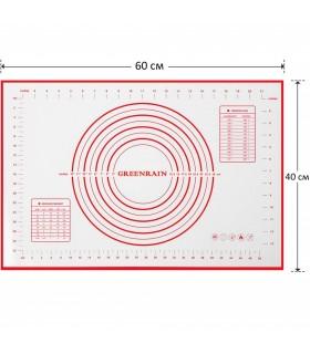 Силиконова подложка за месене и разточване 60x40 - 5