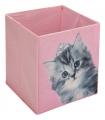 Кутия за съхранение с котка 25x25x25см
