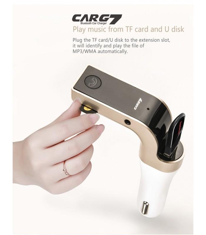 Bluetooth MP3 трансмитер за кола с USB - 8