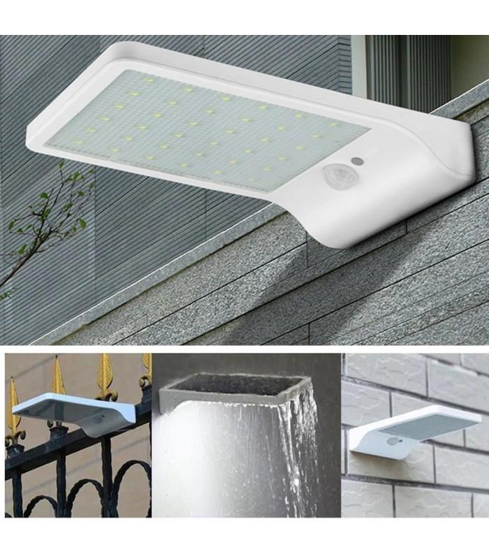 Соларна лампа с 48 диода за стена с датчик за движение и дистанционно - 13