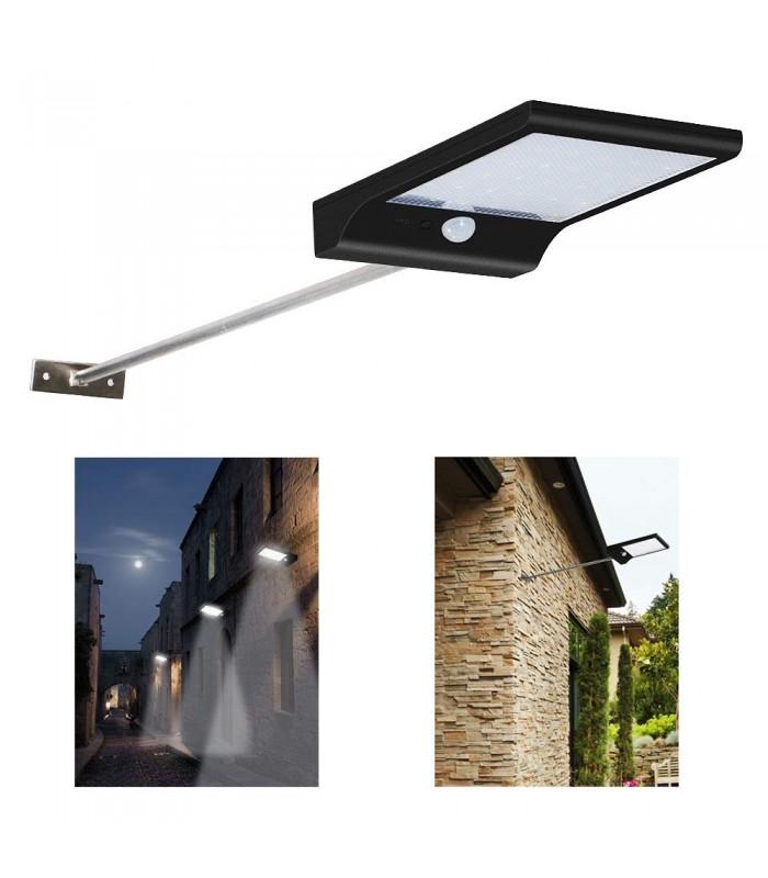 Соларна лампа с 48 диода за стена с датчик за движение и дистанционно - 6