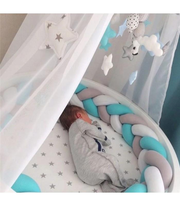 Плетен обиколник за бебешка кошара-количка - 1