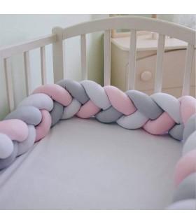 Плетен обиколник за бебешка кошара-количка - 4
