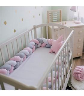 Плетен обиколник за бебешка кошара-количка - 3