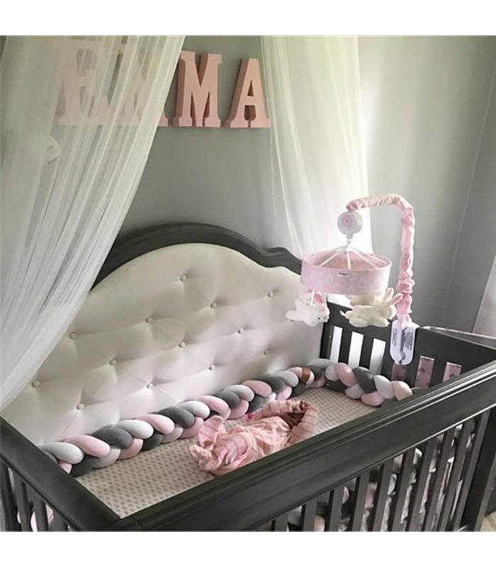Плетен обиколник за бебешка кошара-количка - 7