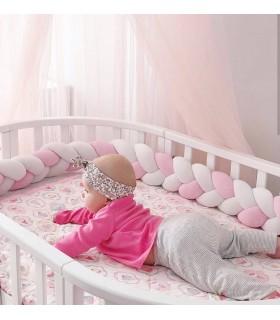 Плетен обиколник за бебешка кошара-количка - 9