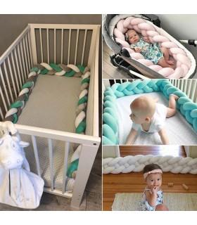 Плетен обиколник за бебешка кошара-количка - 5