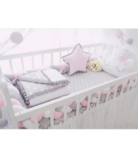 Плетен обиколник за бебешка кошара-количка - 10