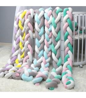 Плетен обиколник за бебешка кошара-количка - 12