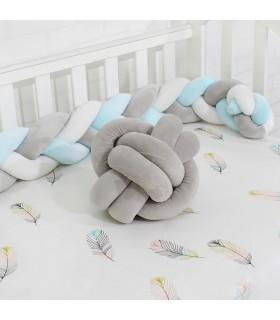Плетен обиколник за бебешка кошара-количка - 13