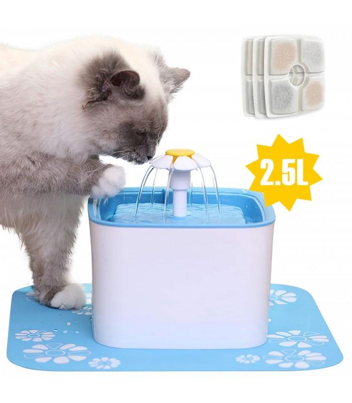 Автоматичен воден фонтан поилка за котки и кучета - 1
