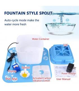 Автоматичен воден фонтан поилка за котки и кучета - 7