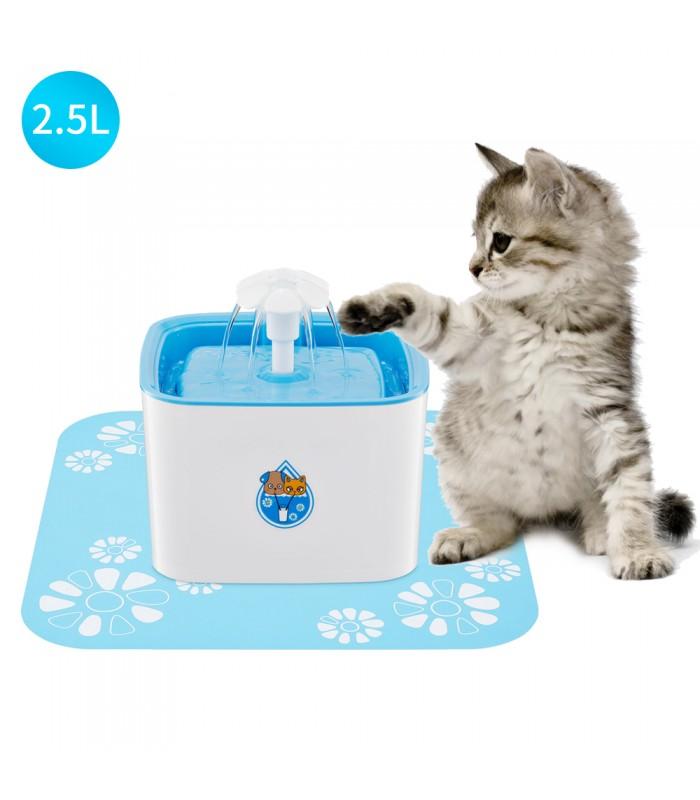 Автоматичен воден фонтан поилка за котки и кучета - 2