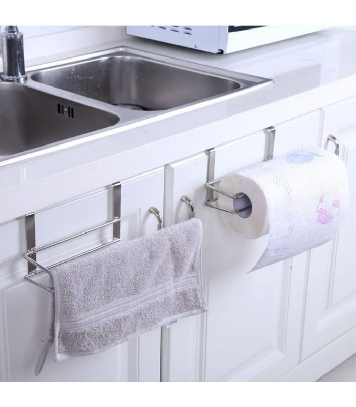 Хромирана поставка органайзер за кухненска ролка - 5