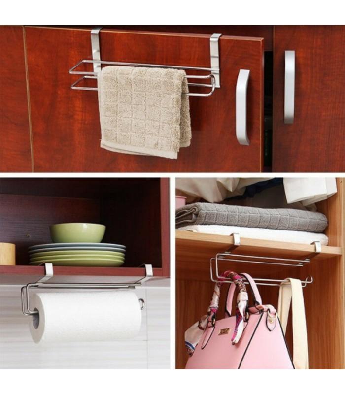 Хромирана поставка органайзер за кухненска ролка - 7