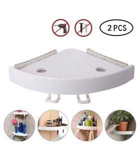 Ъглова етажерка за баня с вакуум Snap Up - 4