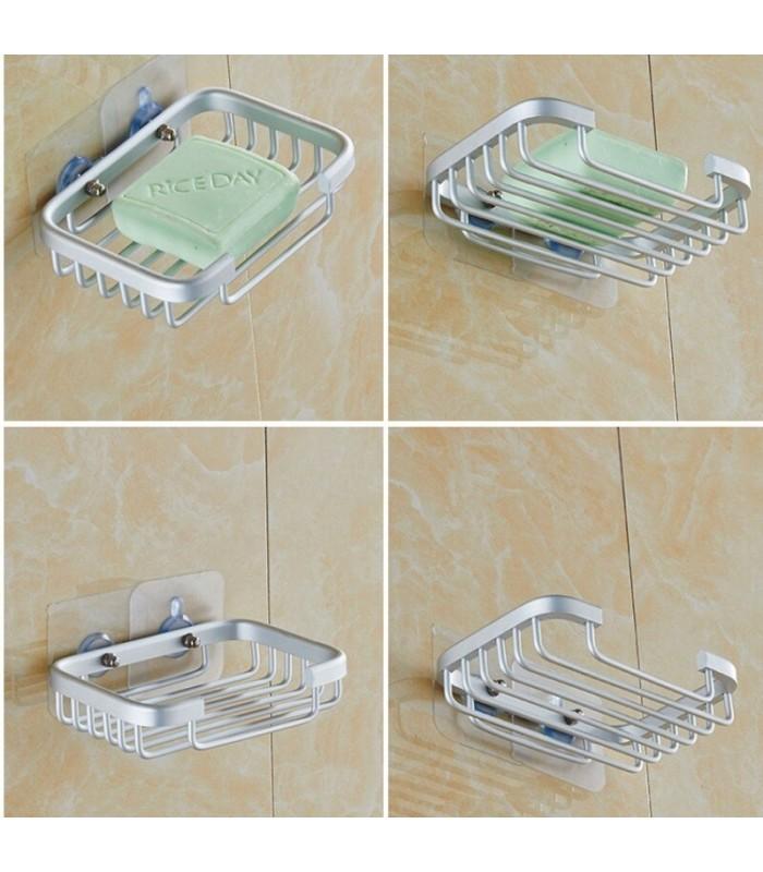 Поставка за сапун за баня БЕЗ ПРОБИВАНЕ - 5