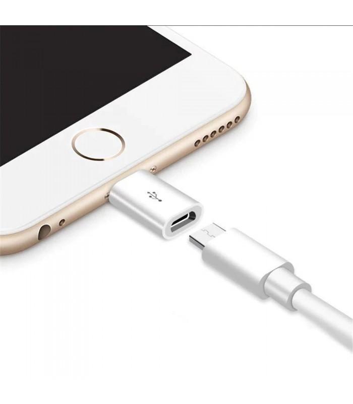 Преходник Micro USB към Iphone 5 6 7 и 8 - 4