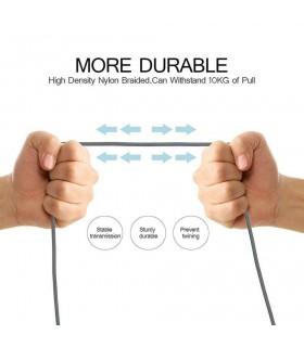3 метра USB Type C кабел с текстилно покритие - 2
