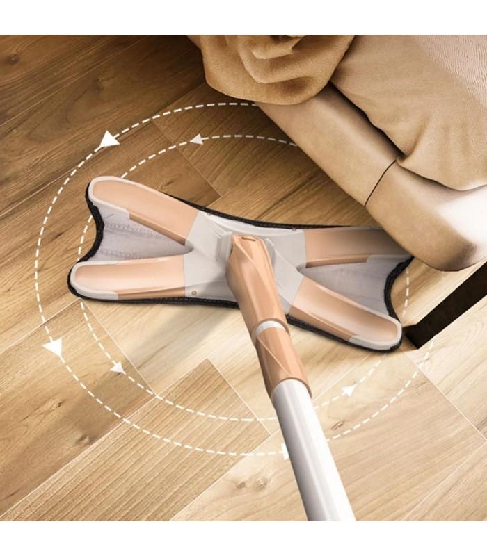 Х-образен моп с за под с дръжка за изцеждане на водата - 4