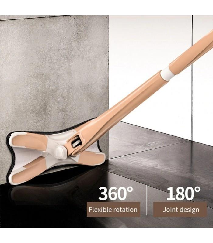 Х-образен моп с за под с дръжка за изцеждане на водата - 7