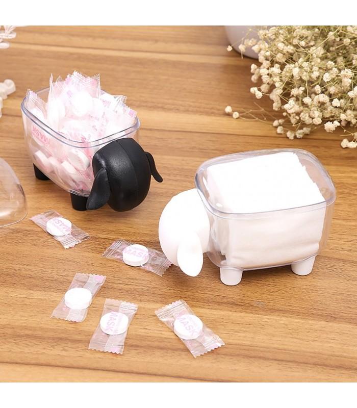 Кутия за клечки за уши и клечки за зъби с форма на овца - 2