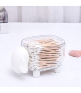 Кутия за клечки за уши и клечки за зъби с форма на овца - 3