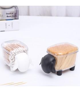 Кутия за клечки за уши и клечки за зъби с форма на овца