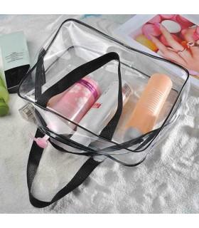 К-т от 3бр. прозрачни чантички с цип за козметика при пътуване - 4