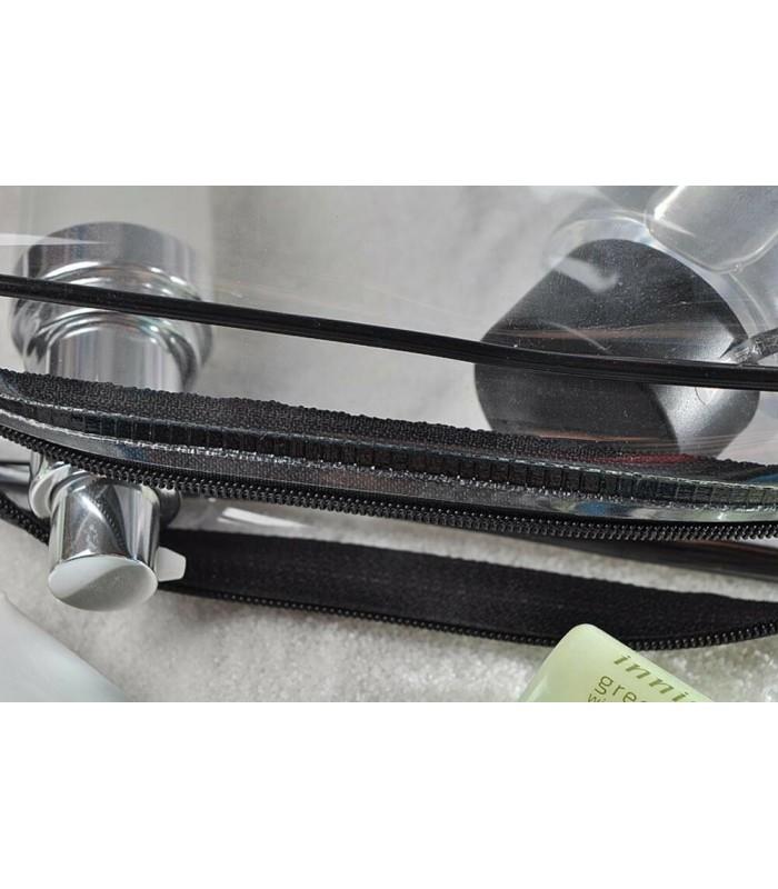 К-т от 3бр. прозрачни чантички с цип за козметика при пътуване - 10