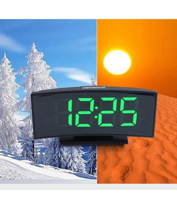 Настолен часовник със зелени цифри - модел 3621 - 5