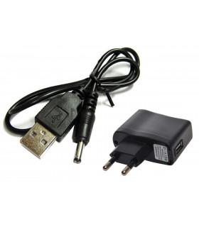USB кабел + Адаптер за 220V - 1