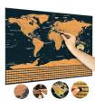 Скреч карта на света Делукс издание - 14