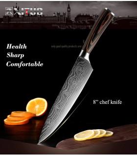"""8"""" кухненски нож от дамаска стомана с подаръчна кутия - 2"""