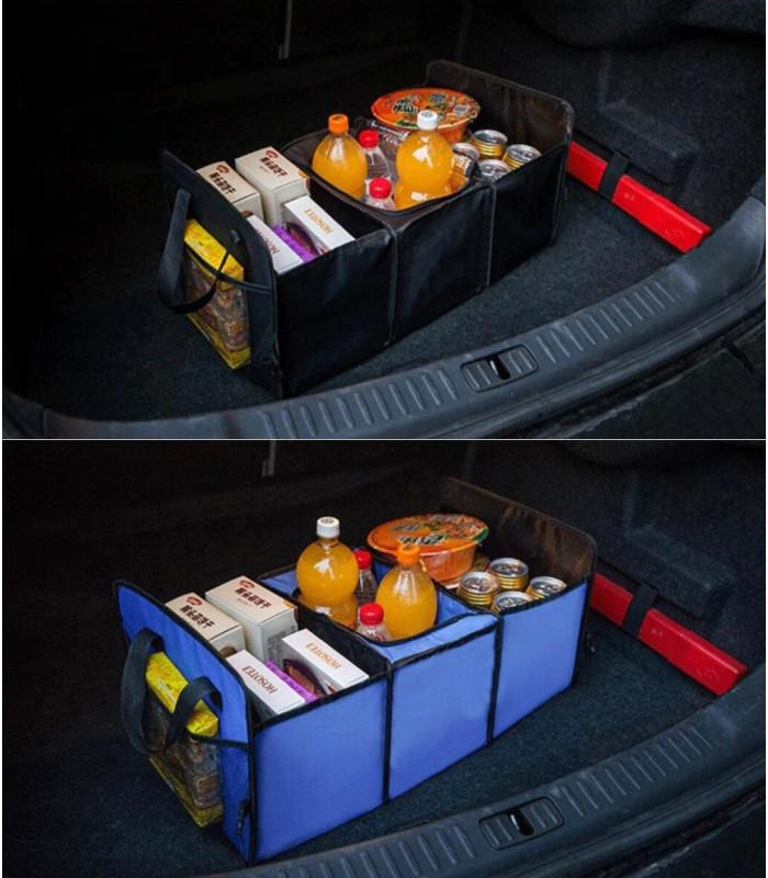 Сгъваем органайзер за автомобилен багажник с термо отделение - 1
