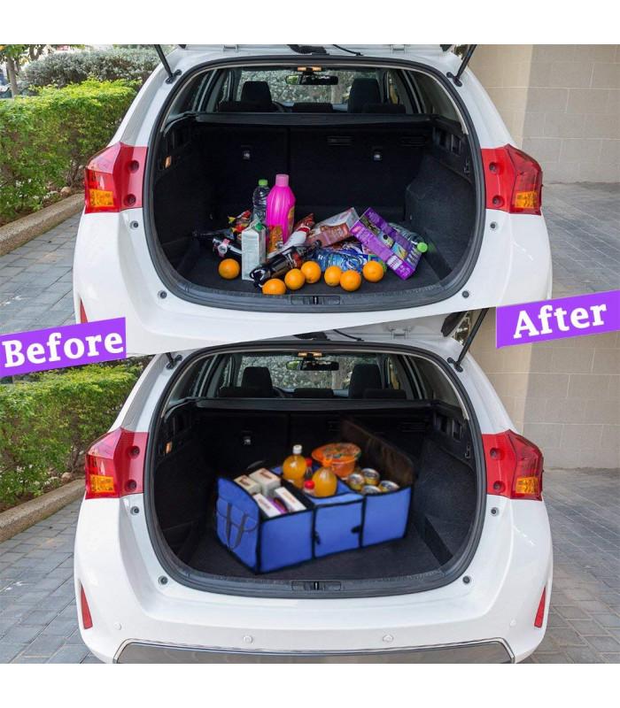 Сгъваем органайзер за автомобилен багажник с термо отделение - 4
