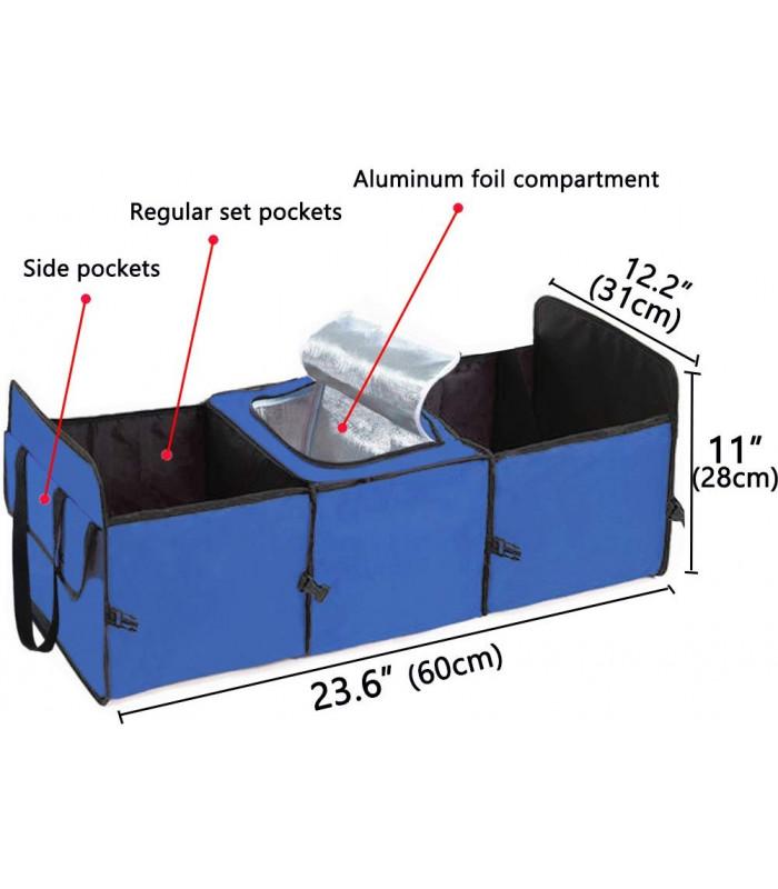 Сгъваем органайзер за автомобилен багажник с термо отделение - 6