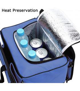 Сгъваем органайзер за автомобилен багажник с термо отделение - 8