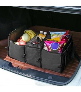 Сгъваем органайзер за автомобилен багажник с термо отделение - 5
