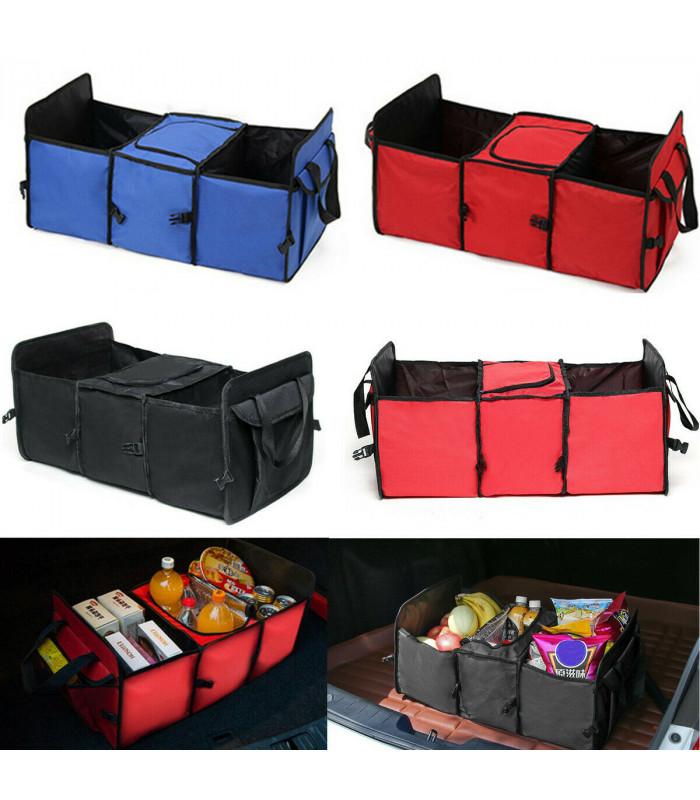 Сгъваем органайзер за автомобилен багажник с термо отделение - 7