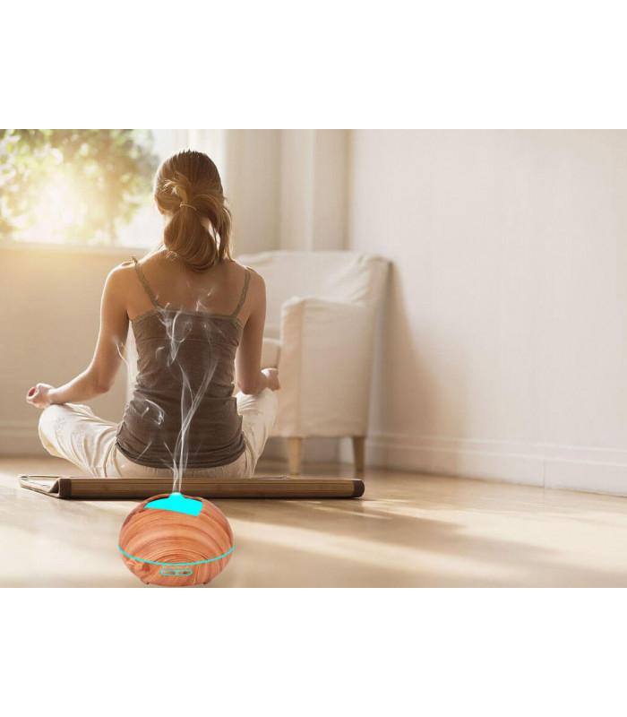 Дифузер за ароматерапия с етерични масла и LED светлини - 6