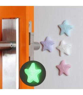 """Самозалепващ фосфоресциращ стопер за врата """"Звезда"""" - 1"""
